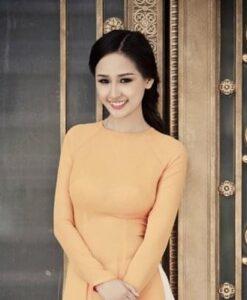 Napel Yellow Extra Ao Dai Ready To Wear