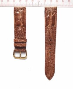 Brown Ostrich Wrist Watch Strap