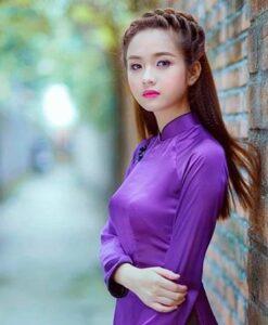 Blue Violet Ao Dai