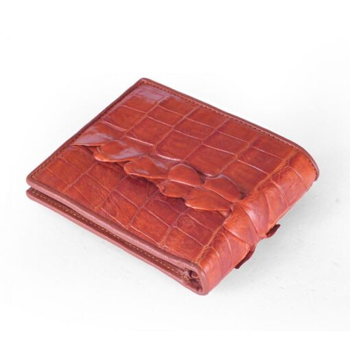 Brown Crocodile Tail Thorns Leather Men Wallet