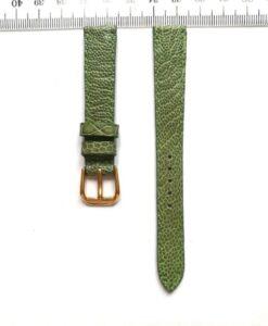 Green Ostrich Wrist Watch Strap 14mm