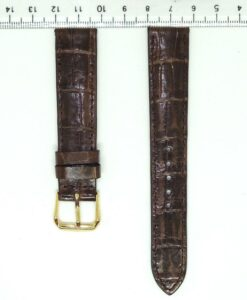 Chocolate Crocodile Alligator Wrist Watch Strap 18mm
