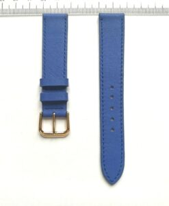 Cow Leather Wrist Watch Strap Coban Blue 18mm