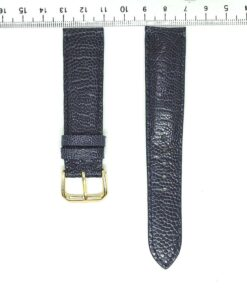 Dark Navy Wrist Watch Strap Ostrich Leather 20mm