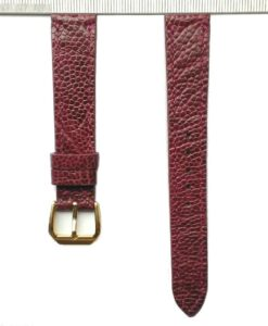 Ostrich Watch Strap 16mm Purple