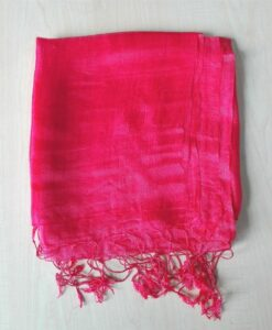 Van Phuc Natural Silkworm Pink Women Scarf