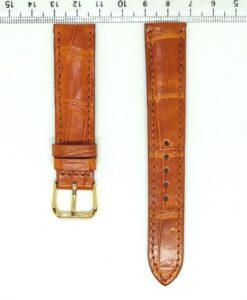 Vietnam Pumpkin Crocodile Wrist Watch Strap 18mm