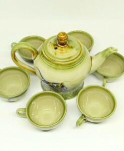Vietnamese Pottery Bat Trang Tea Set