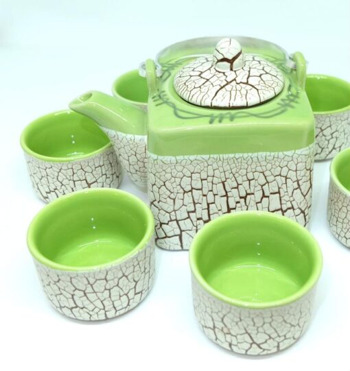 Green Cracked Glaze Bat Trang Ceramic Tea Set 2
