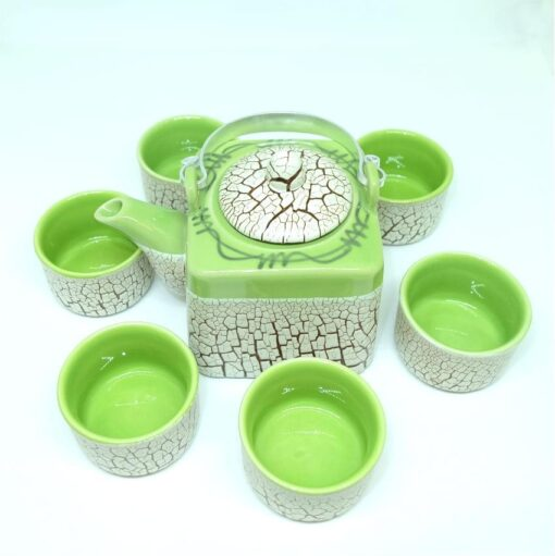 Green Cracked Glaze Bat Trang Ceramic Tea Set 4