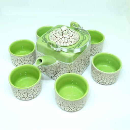 Green Cracked Glaze Bat Trang Ceramic Tea Set