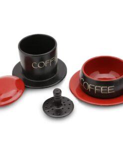 Red Gravity Bat Trang Ceramic Coffee Filter 2
